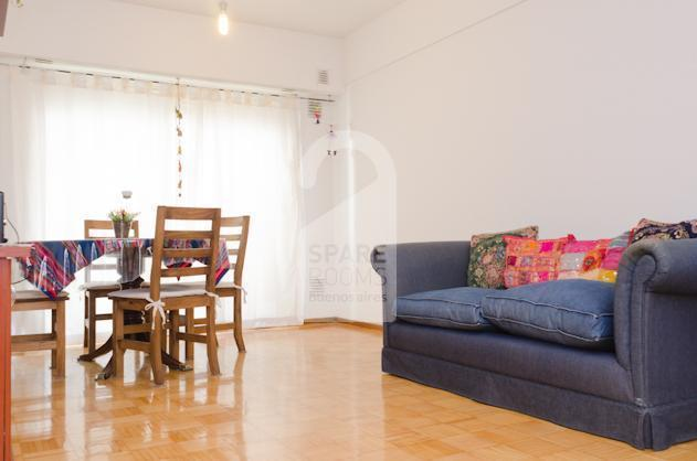 The living-room at the apartment in San Telmo.