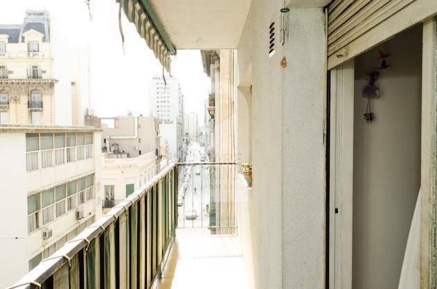 The balcony at the apartment in San Telmo.