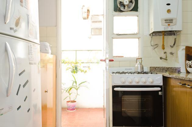 The kitchen  at the apartment in San Telmo.