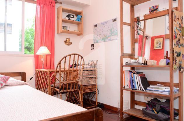 The room at the house in Almagro neighborhood.
