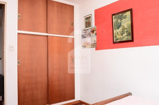 A spacious closet at the room in Almagro.