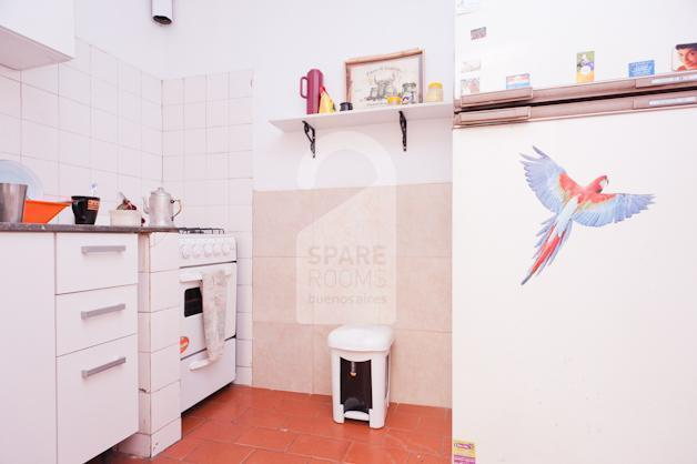 The kitchen at the house in San Telmo.