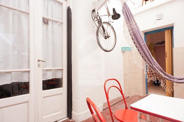 The internal terrace and dining area at the house in San Telmo.