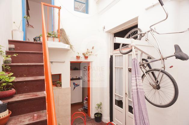 The access to the room at the house in San Telmo.