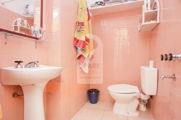 The bathroom at the house in San Telmo.