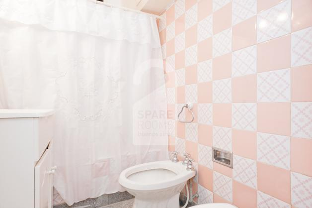 The bathroom at the apartment.