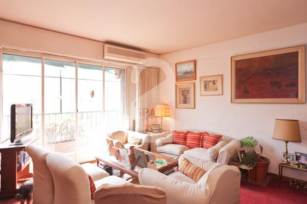 The living room at the apartment in Recoleta.