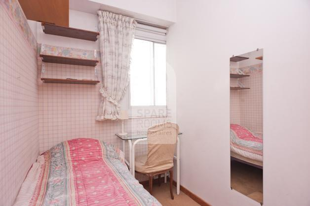 The single room in the apartment of Recoleta.