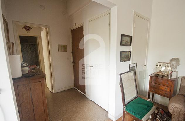 Living room and entrance door