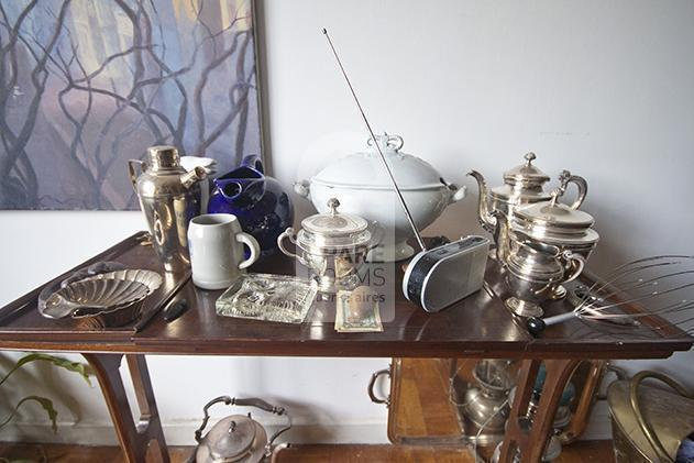 Pottery and silver objects