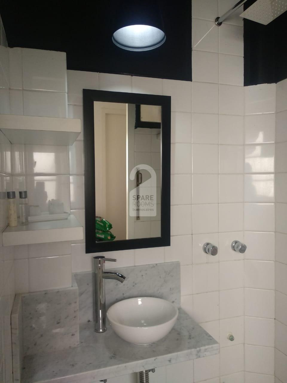 the recycled bathroom