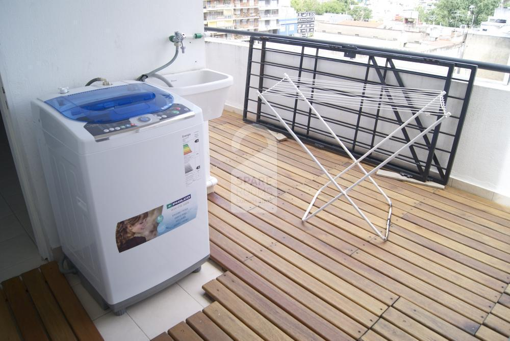Washing machine at the balcony