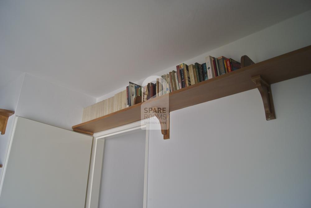 Shelves in the room