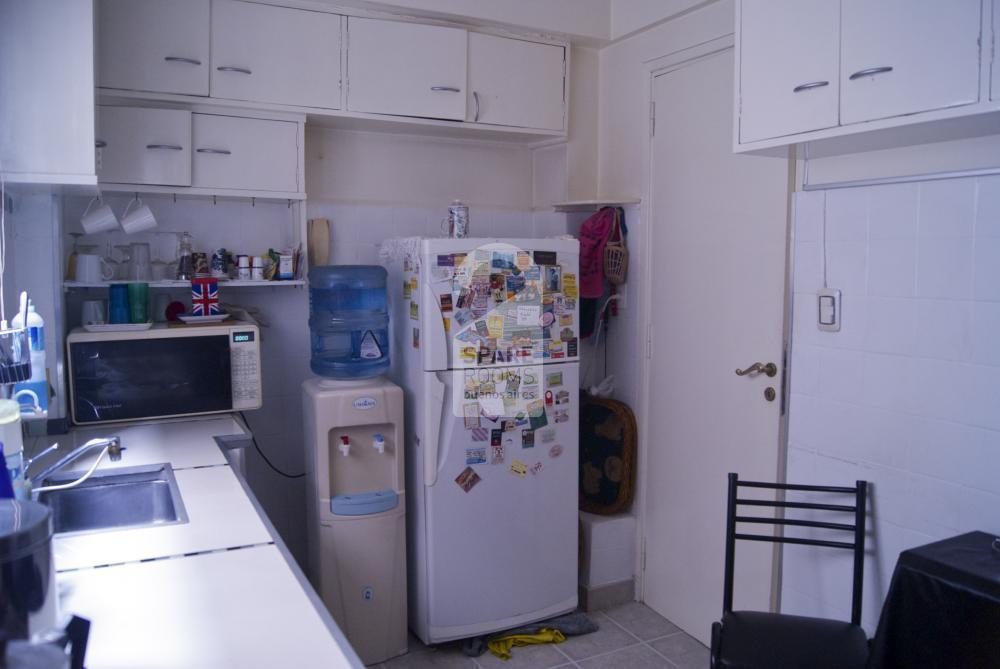 The kitchen at the apartment in Recoleta