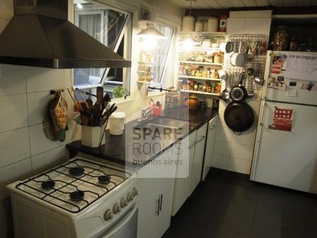 La cocina en el departamento en Recoleta