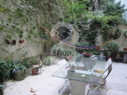 El patio en el departamento de Recoleta
