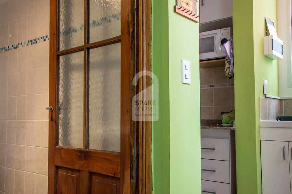 Toilette and Kitchen hallway