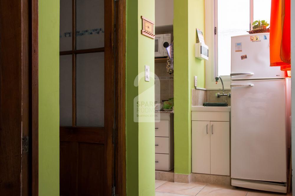 Kitchen and toilette hallway