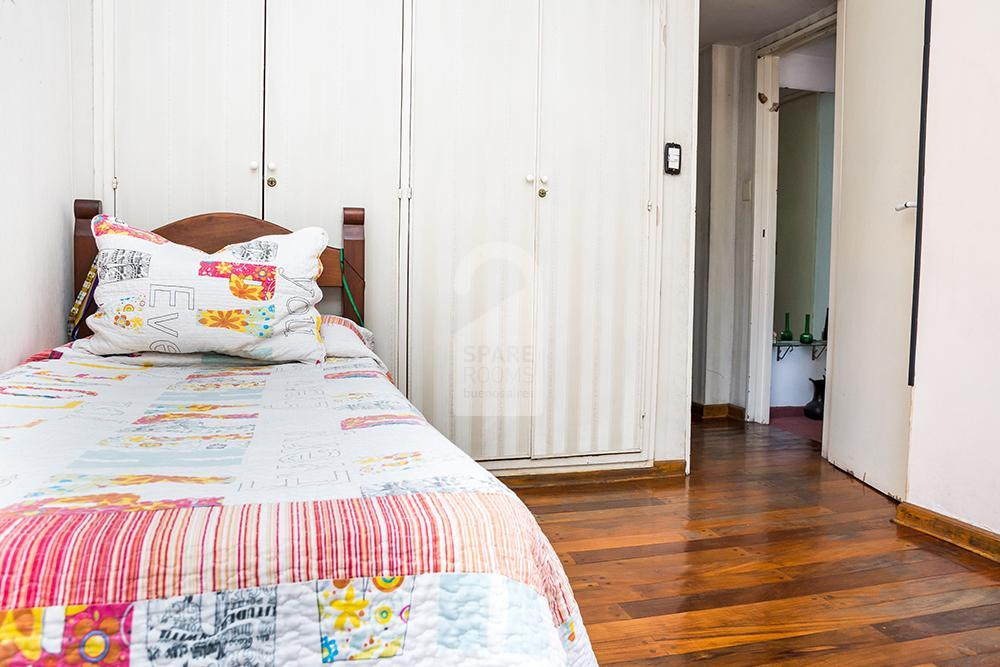 The bed at the apartment in Belgrano