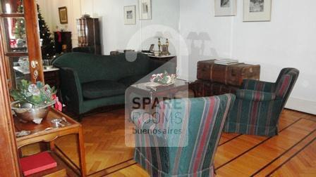 The living room frech style at the apartment in  Downtown/Retiro