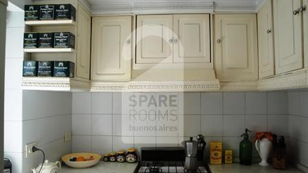 The kitchen  frech style at the apartment in Downtown/Retiro