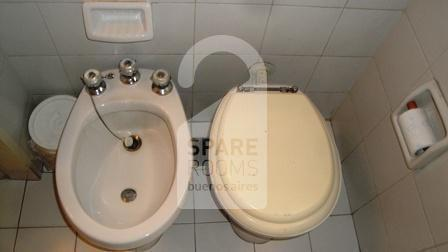 The private bathroom at the apartment in Downtown/Retiro