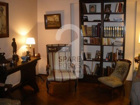 The living-room at the apartment in Retiro