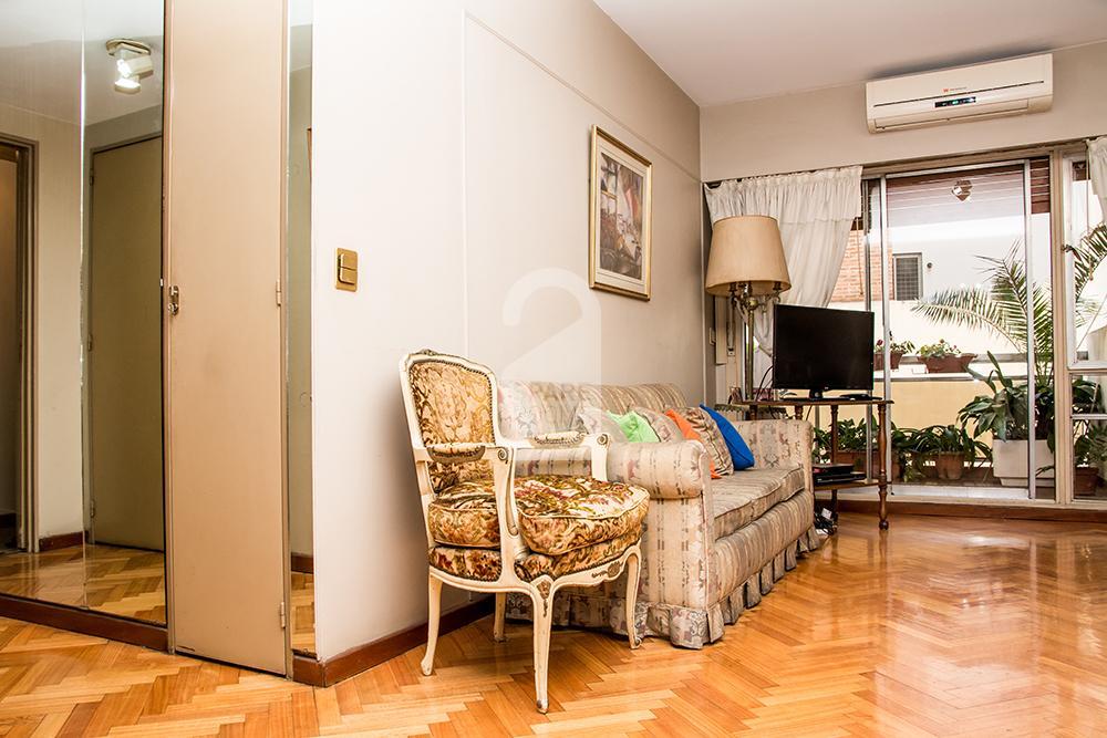 Living room en el departamento en Recoleta