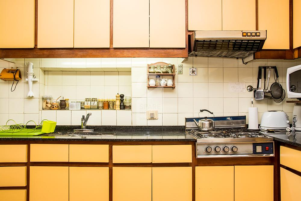 Kitchen at the apartment in Recoleta