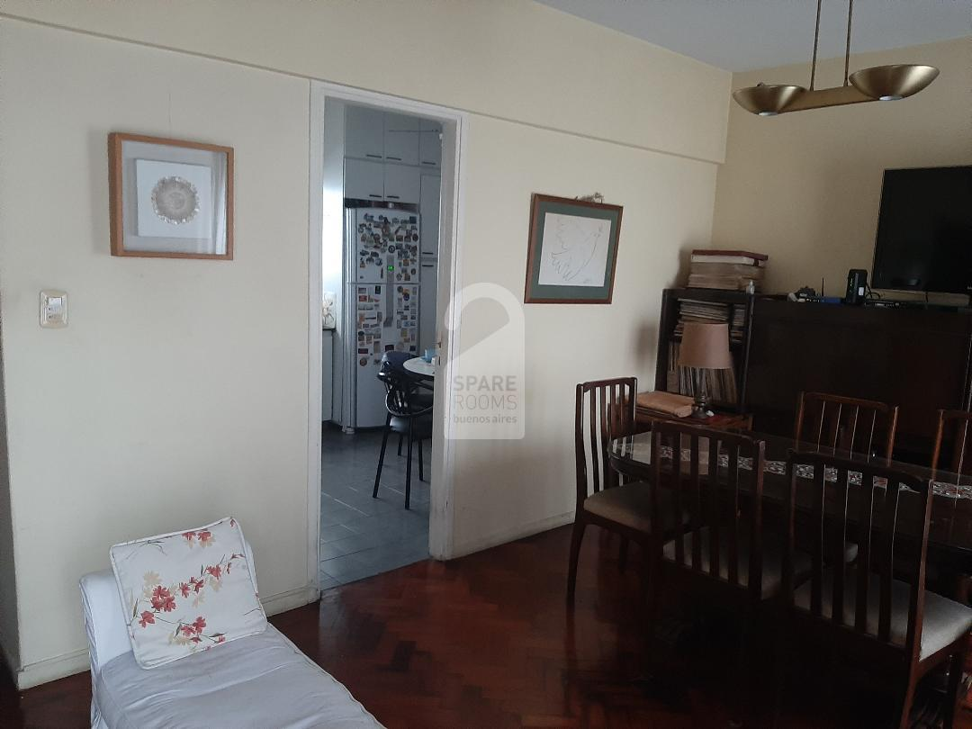 The dining room in the house