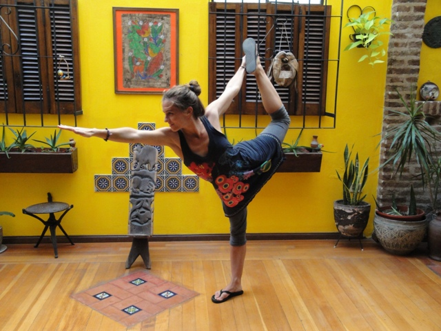 A (Bikram) yoga teacher in Palermo