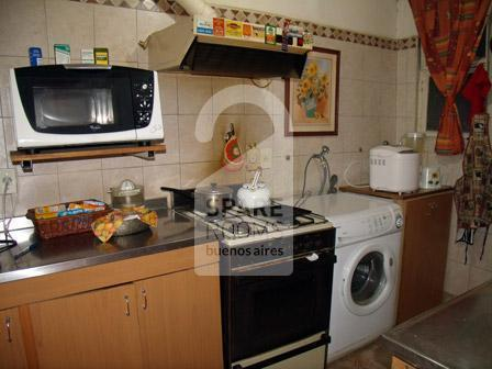 The kitchen at the apartment in Palermo