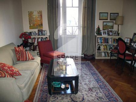 The living room at the apartment in Palermo