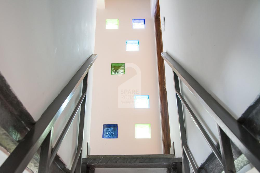 Glass bricks that brings natural light over the stairs