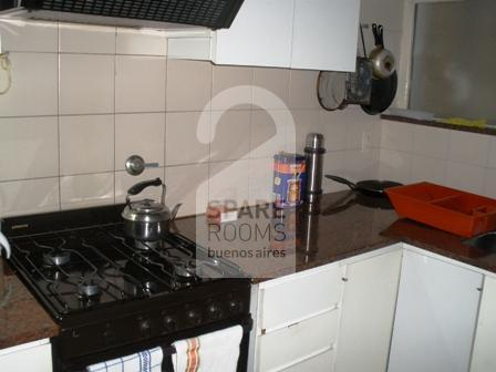The kitchen at the apartment in Retiro